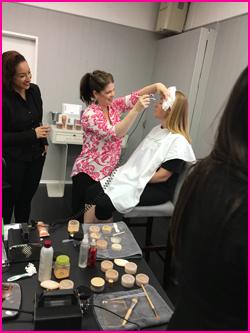 aimee airbrushing makeup natalie